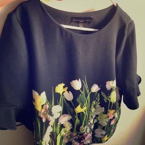Victoria Beckham for Target Blouse Floral Large